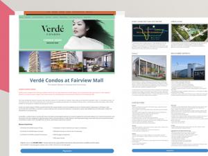 Landing Page Development for Real Estate, Verde Condos, Toronto