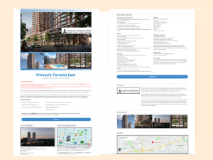 Landing Page Development for Real Estate, Pinnacle Condos, Toronto