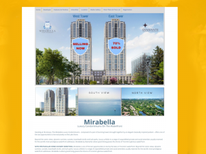 Landing Page Development for Real Estate, Mirabella Condos, Toronto
