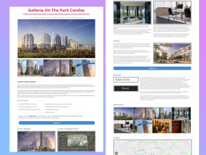Landing Page Development for Real Estate, Galleria On The Park Condos, Toronto